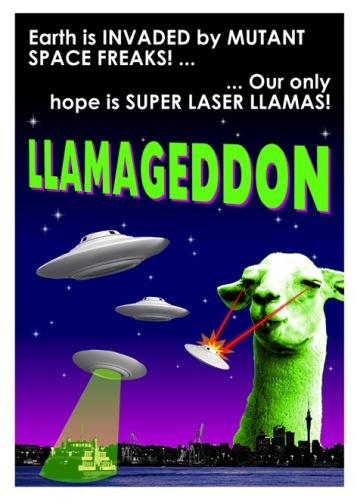 Llamageddon Poster Small